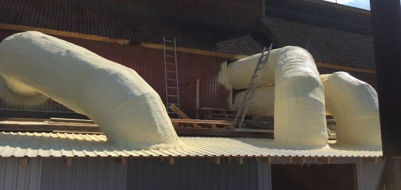 Ventilatsioonitorude katmine suletud pooridega PUR vahuga